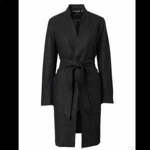 Italian Melton Wool Blend Robe Coat XS